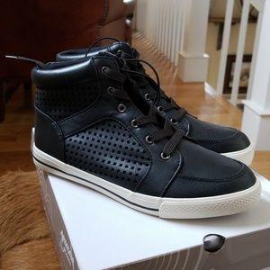 Arizona Jean Company Perforated High Top Sneakers